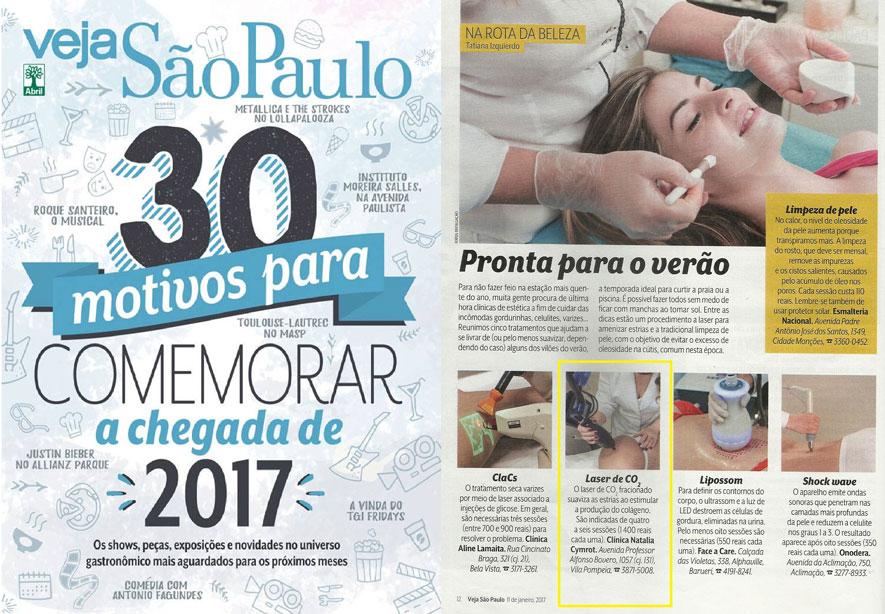 A Revista Veja deu algumas dicas valiosas para os cuidados com a pele. Uma delas foi indicação do Laser de CO2, técnica aplicada pela Dra. Natália Cymrot