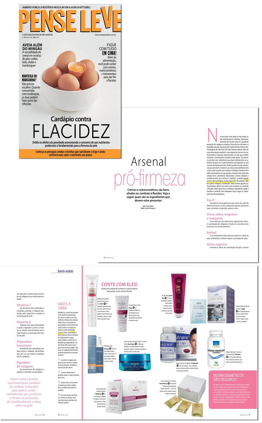 Dra. Natália Cymrot na Revista Vip fala sobre envelhecimento da pele - Outubro/2018